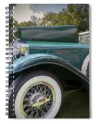 1929 Isotta Fraschini Tipo 8a Convertible Sedan Spiral Notebook