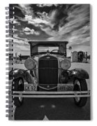 1931 Model T Ford Monochrome Spiral Notebook