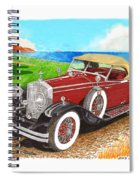 Rolls Royce Henley Roadster Spiral Notebook