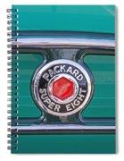 1934 Packard Super 8 Emblem Spiral Notebook