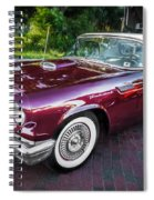 1957 Ford Thunderbird Convertible Painted    Spiral Notebook