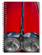 1958 Chevrolet Corvette Headlights Spiral Notebook