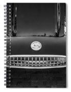 1959 Chevy Corvette Convertible Bw  Spiral Notebook