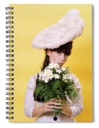 1960s Glamour Woman In White Turn Spiral Notebook