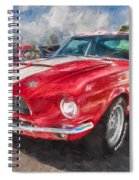 1967 Ford Shelby Mustang Gt500 Painted  Spiral Notebook