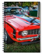 1969 Chevy Camaro Ss 396 Painted  Spiral Notebook