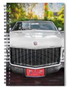 1970 Cadillac Coupe Deville Convertible Painted  Spiral Notebook
