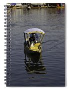 2 Kashmiri Men Heading Towards The Camera In A Small Wooden Boat Spiral Notebook