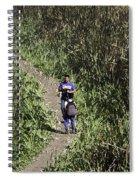 2 Photographers Walking Through Tall Grass Spiral Notebook