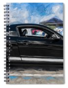 2007 Ford Mustang Shelby Gt Painted Spiral Notebook