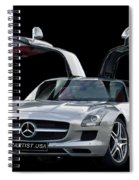 Mercedes Benz S L S  Gull-wing Spiral Notebook