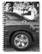 2010 Plymouth Superbird Bw  Spiral Notebook