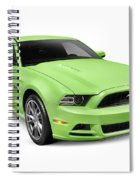 2013 Ford Mustang Gt 5.0 Sports Car Spiral Notebook
