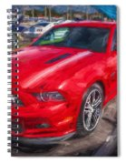 2013 Ford Mustang Gt Cs Painted  Spiral Notebook