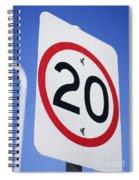 20km Road Sign Spiral Notebook