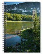 A Fly Fisherman Fishes A High Alpine Spiral Notebook