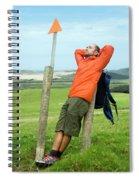 A Man Enjoying A Moment Of Rest Spiral Notebook