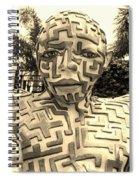 1 A Maze Ing Man Sepia Spiral Notebook