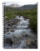 A Mountain Stream In Vanoise National Spiral Notebook