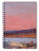 A Northern Lake Spiral Notebook