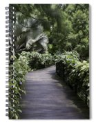 A Raised Walking Path Inside The National Orchid Garden In Singapore Spiral Notebook