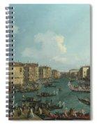 A Regatta On The Grand Canal Spiral Notebook
