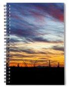 A Silhouette Sunset  Spiral Notebook