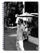A Street Entertainer In The Hollywood Section Of Universal Studios Spiral Notebook