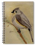 A Tufted Titmouse Spiral Notebook
