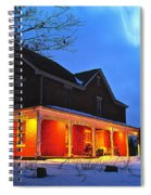 A Winters Eve Spiral Notebook