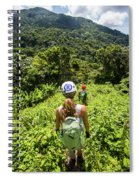 A Young Woman Hikes Through The Jungles Spiral Notebook