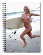 A Young Woman Is Running Spiral Notebook