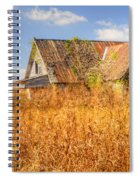 Abandoned Farmhouse In Field 3 Spiral Notebook