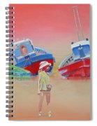 Abandoned Fishing Boats Tavira Spiral Notebook