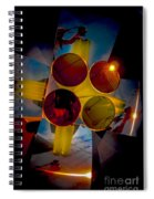 Abstract 3d Shapes  Spiral Notebook
