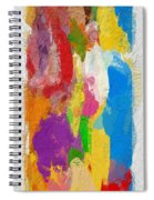 Abstract Colors Spiral Notebook