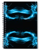 Abstract In Blue Spiral Notebook