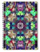 Abstract Symmetry Of Colors Spiral Notebook