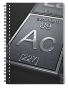 Actinium Chemical Element Spiral Notebook