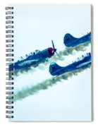 Action In The Sky During An Airshow Spiral Notebook