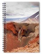 Active Volcanoe Cone Of Mt Ngauruhoe New Zealand Spiral Notebook