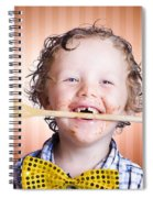 Adorable Little Boy Cooking Chocolate Easter Cake Spiral Notebook
