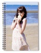 Adorable Seaside Girl Spiral Notebook