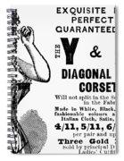Advertisement Corset Spiral Notebook