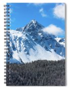 Aerial Of Mount Sneffels With Snow Spiral Notebook