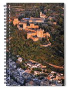 Aerial Photo  Alhambra And Albaycin In Granada Spiral Notebook