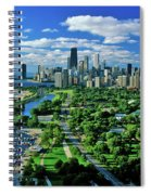 Aerial View Of Chicago, Illinois Spiral Notebook