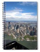 1-aerial View Of Manhattan Spiral Notebook