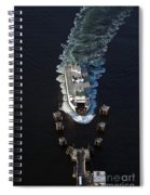 Aerial View Of Passenger Ferry Boat Going To Southworth Puget So Spiral Notebook