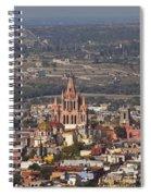 Aerial View Of San Miguel De Allende Spiral Notebook